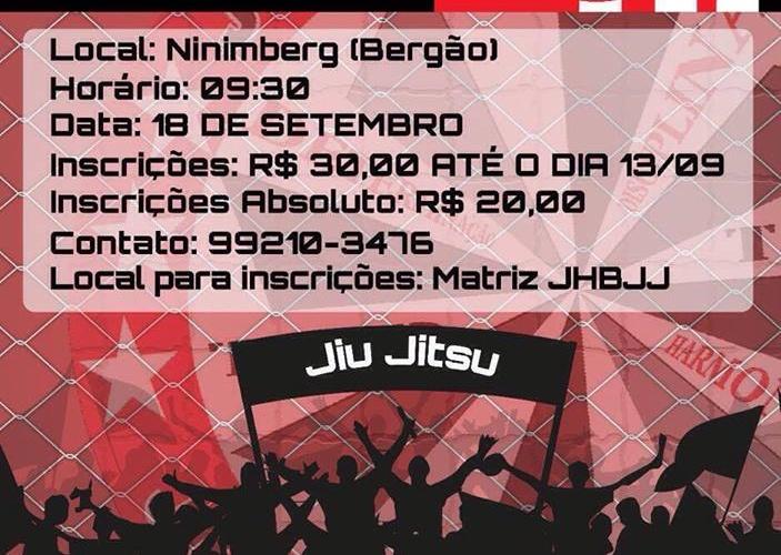 Estão abertas as inscrições para a Copa 12 anos JHBJJ de Jiu-Jitsu