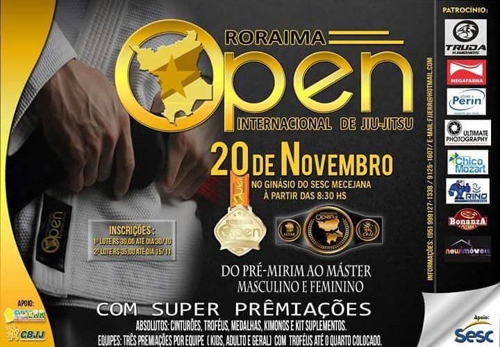 Roraima Open Internacional de jiu-jitsu 2016 acontece no dia 20 de novembro em Boa Vista