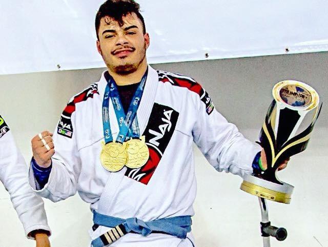 a2acb10227 Atleta conquista duas medalhas no Campeonato Mundial de ParaJiu-Jitsu