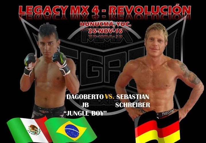 Dagoberto Jungle Boy fará luta principal no Legacy MX4