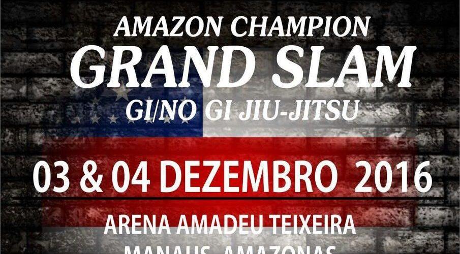 Inscrições para o Amazon Champion Grand Slam Gi e No Gi de jiu-jitsu encerram nesta segunda-feira (28)
