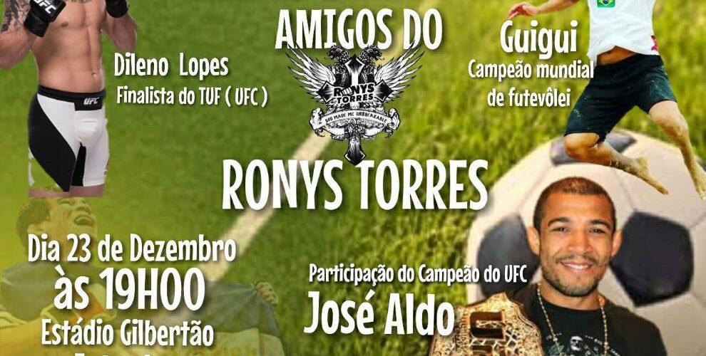 Ronys Torres realizará nesta sexta-feira (23) Futebol Solidário em Manacapuru
