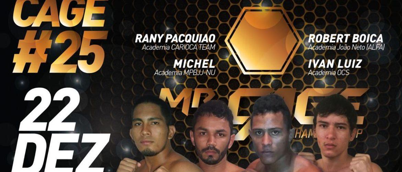 Conheça os lutadores que participarão do GP masculino no MR. Cage 25 – edição especial de Natal
