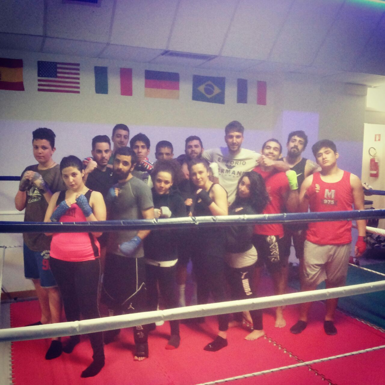 Marcio e a equipe Madrid Fight Center