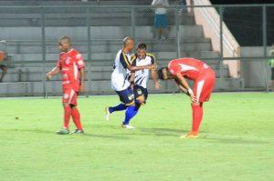 Atacante Charles, autor do segundo gol do Nacional FC (Foto: Arlesson Sicsú / Nacional FC)