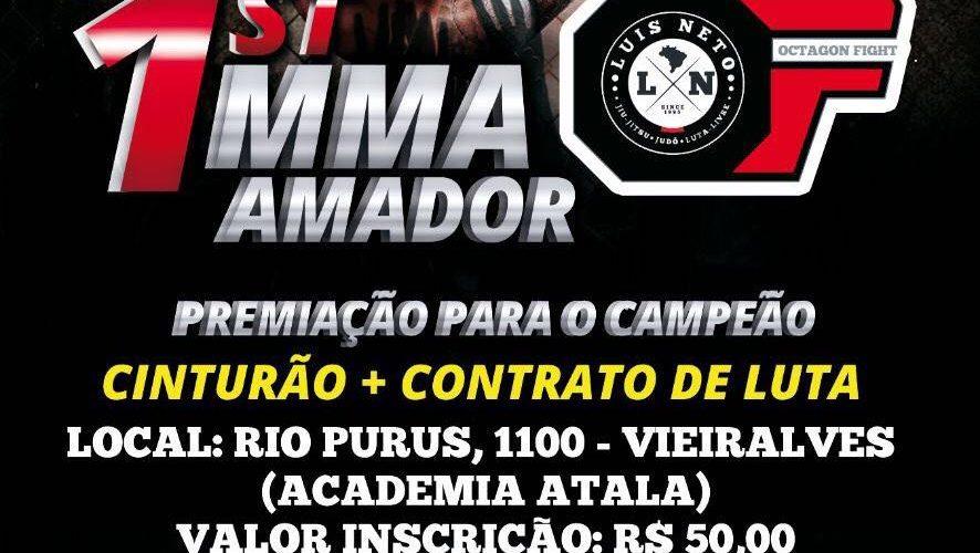 Inscrições para o 1º Campeonato de MMA Amadorrealizado pela OF Luis Neto encerram nesta sexta feira (15)