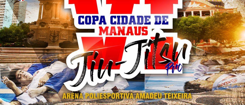 Valendo pontos para o ranking, VI Copa Cidade de Manaus de Jiu-Jitsu Profissional acontece em novembro