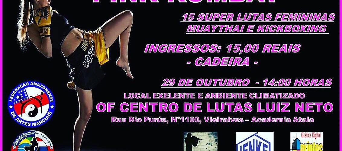 A vez da mulherada: Pink Kombat acontece neste domingo no OF Centro de Lutas Luiz Neto