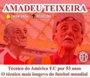 O esporte perde um Ícone: morre aos 91 anos Amadeu Teixeira