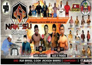 Compensa sedia evento de MMA neste sábado (17)