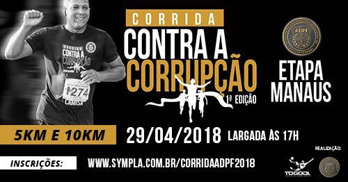Manaus vai sediar corrida contra a corrupção