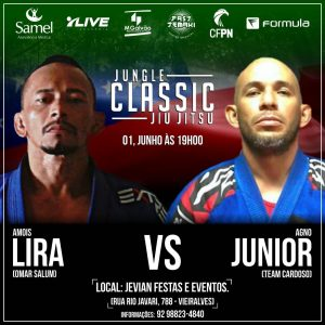 Agno Junior substitui Arlison Kiki no Jungle Classic Jiu-Jitsu