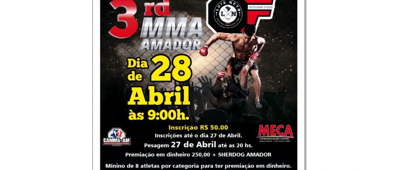 Maior evento de MMA Amador do Amazonas, realizará terceira edição no dia 28 de abril, em Manaus