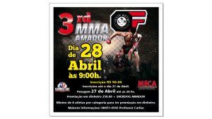 Com premiação em dinheiro, 3º Campeonato MMA Amador acontece no dia 28 de abril