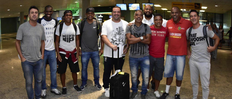 Supercampeonato: seleção brasileira master de Beach Soccer já está em Manaus