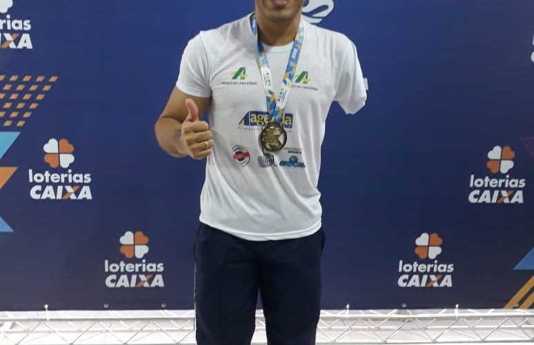 Com apoio da Sejel, nadador paralímpico amazonense conquista medalhas de ouro e bronze no Circuito Brasileiro da modalidade