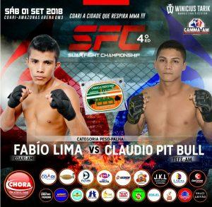 Após lesão de Anne Viriato, Fábio Lima enfrenta Cláudio Pit Bull no SFC 4