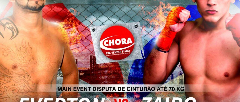Estreando a disputa pelo cinturão dos pesos Leves, Everton Vasconcelos e Zairo Garcia se enfrentam no SFC 4