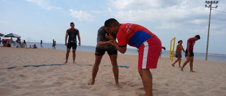 Ponta Negra recebe 1º Campeonato Amazonense de Beach Wrestling
