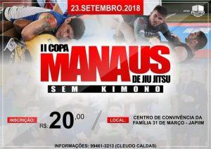 Inscrições para a 2ª Copa Manaus de BJJ Sem Kimono encerram nesta sexta-feira (21)