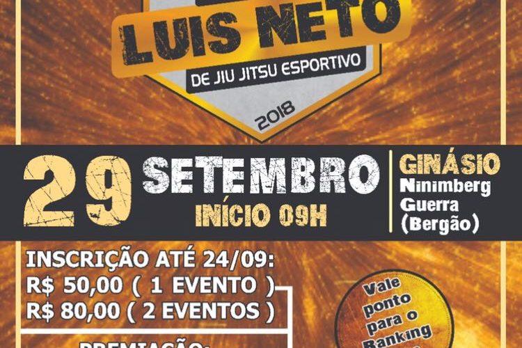 Inscrições para a Copa Luis Neto de Jiu-Jitsu Esportivo encerram nesta quinta-feira (27)