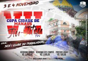 Inscrições para a VII Copa Cidade de Manaus de Jiu-Jitsu encerram nesta quarta-feira (31)