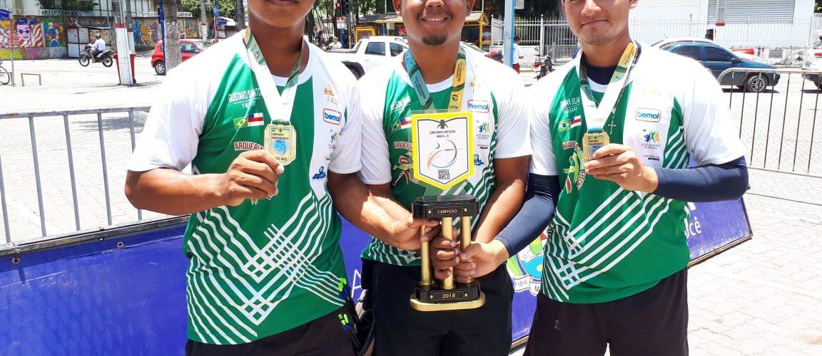 Atletas indígenas doCtarafaturam três ouros no Brasileiro de Tiro com Arco