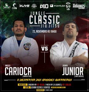 Josafá Junior ou Ângelo Carioca? Façam suas apostas para o Jungle Classic Jiu-Jítsu