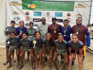 Seleção Amazonense Feminina de Beach Soccer fatura a prata no1º Circuito da modalidade