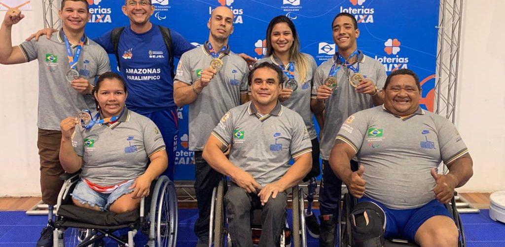 Paratletas do Amazonas conquistam seis medalhas, sendo três de ouro, no Circuito Brasil Loterias Caixa de Halterofilismo