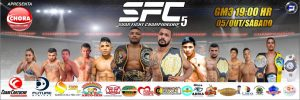 Suar Fight Championship (SFC) divulga card para a 5ª edição