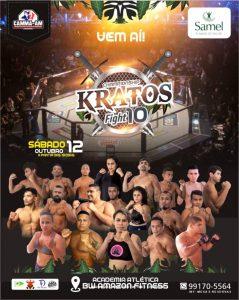 Com 11 super combates, 10ª edição do Kratos Fight Championship será neste sábado (12/10)