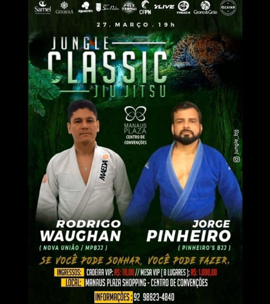 Jungle Classic Jiu-Jitsu 5.0 contará com duelo entre Rodrigo Waughan e Jorge Pinheiro