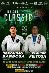 Estreante no Jungle Classic, Jeronimo Barbosa enfrentará o bicampeão do evento, Claudio Feitosa