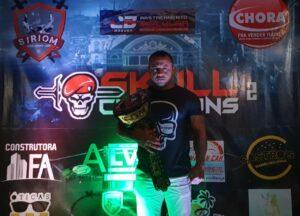 """Sargento da Polícia Militar, Anderson """"Choque"""" fará defesa de cinturão contra o lutador Jackson Velasco, no Skull Champions 2.0"""